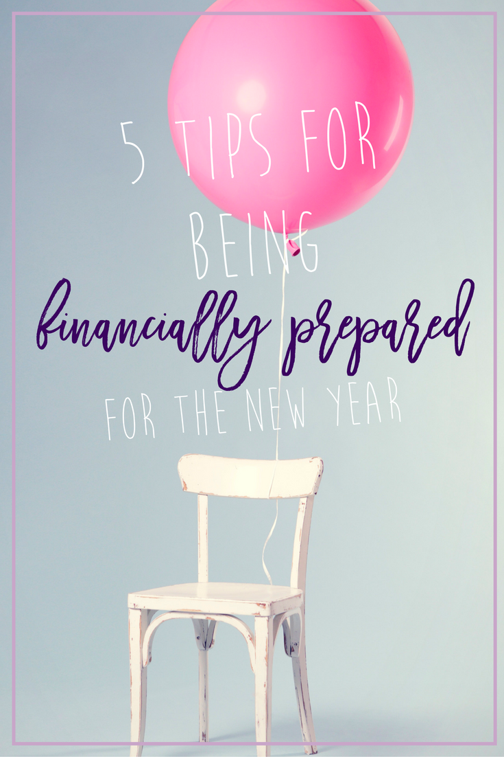 5 Tips for being Financially Prepared for the New Year. Here are some financial tips to help you stay ahead of debt when the new year starts, including how to look ahead for financial issues and plan! // Hey There, Chelsie