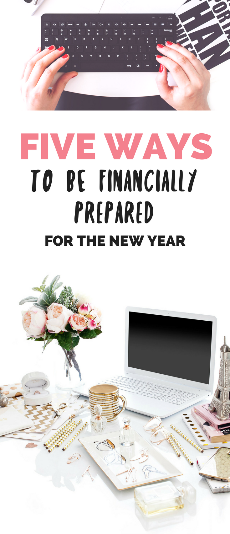 Want to start your New Year off right by hitting your New Year's Goal of being more financially prepared and stable? Here are 5 simple ways you can be more financially prepared for the new year and hit your New Year's goals AND gain financial freedom! while saving money! // Hey There, Chelsie