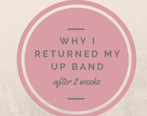 Why I returned my Up Band fitness tracker after two weeks. It was uncomfortable, drained my battery and scared me! // Life with Rosie Blog