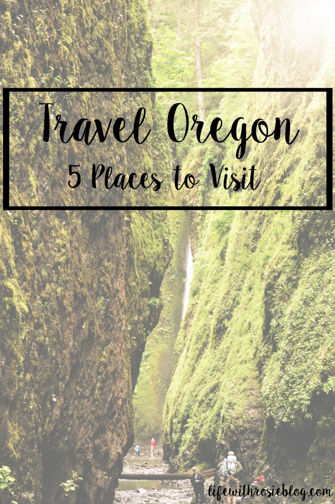 Travel Oregon: 5 places to visit, including Oneonta Gorge, Seaside, Ecola State Park and Tillamook! // Life with Rosie