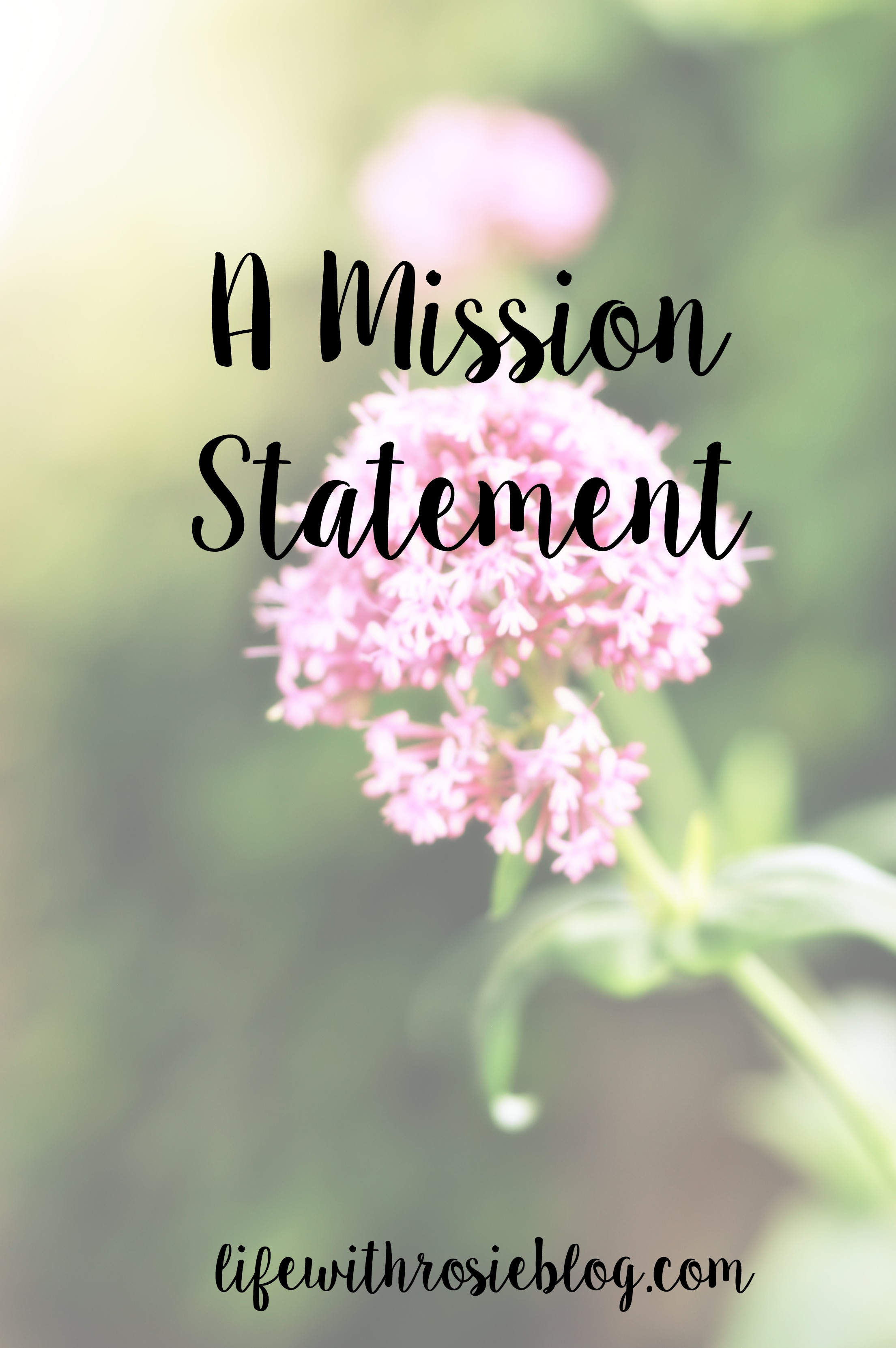A mission statement for my blog to help guide my writing and narrow down my content. Do you have a mission statement for your blog? // Life with Rosie