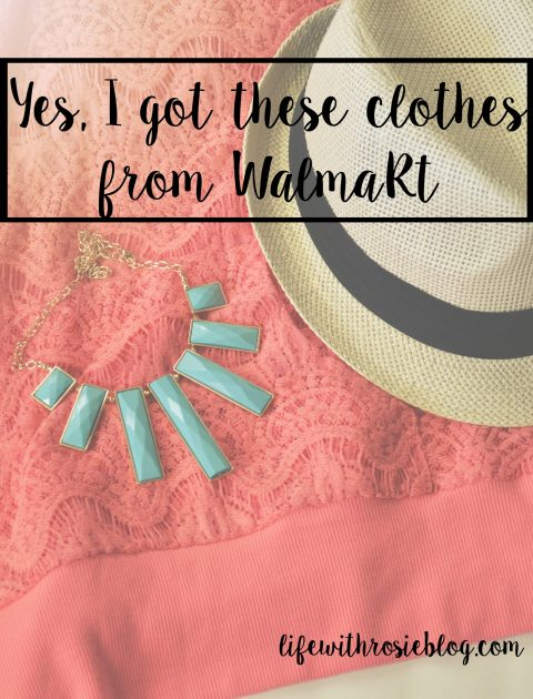Three outfits with pieces from Walmart. It's okay to buy clothes and accessories from Walmart and wear them in public! // Life with Rosie
