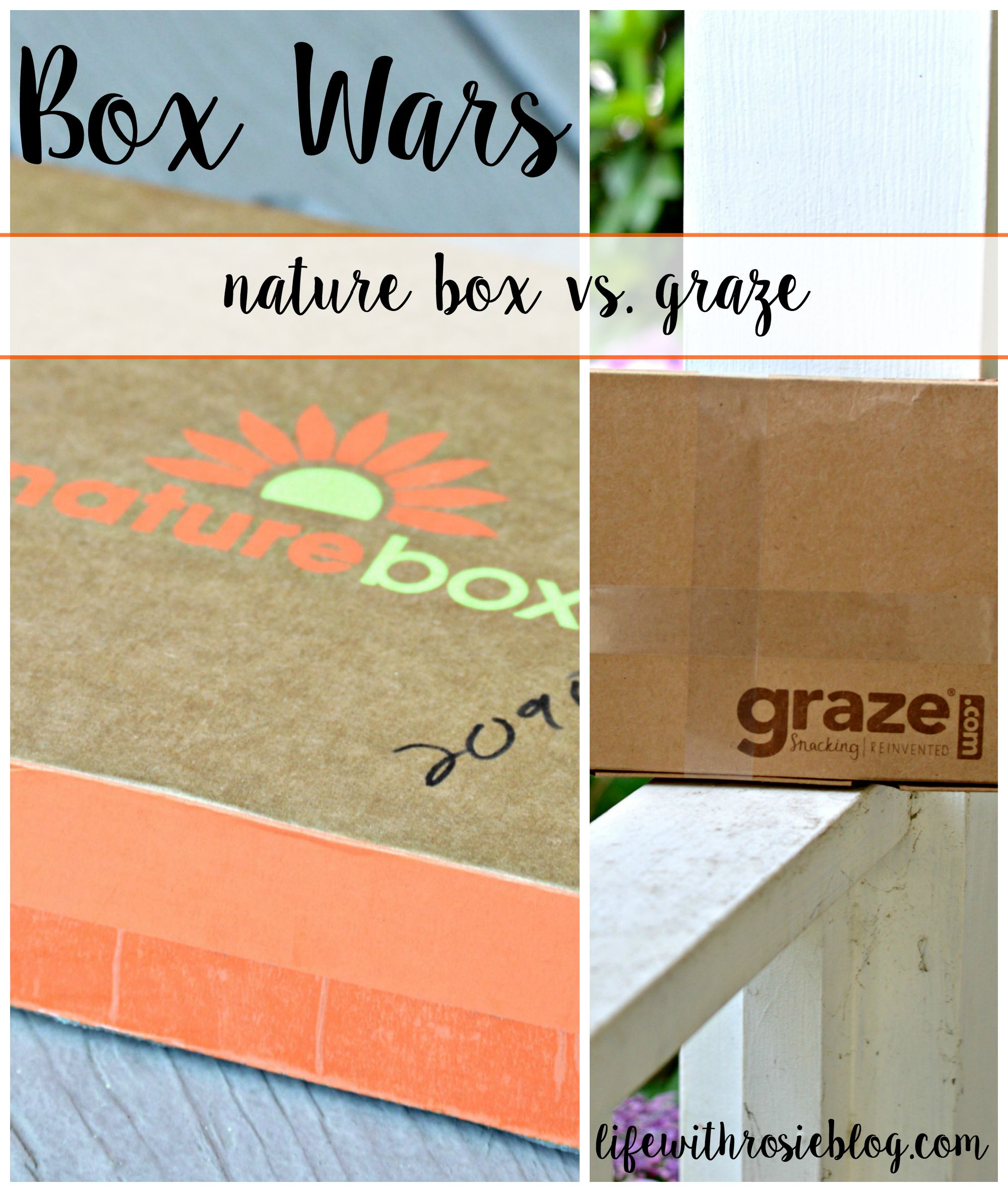 Box Wars: Nature Box vs. Graze.com Box. Which one is the better bang for your buck and taste buds? // Life with Rosie