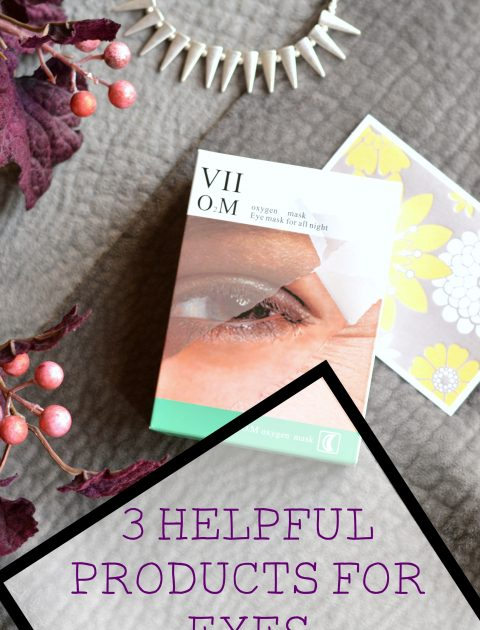 3 Helpful Products for Eyes // Life with Rosie