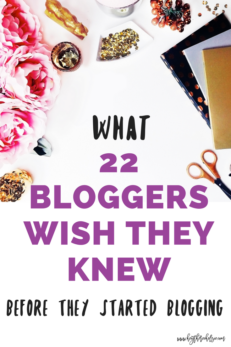 22 Bloggers share their best blogging advice. This advice is ideal for lifestyle blogs, beauty blogs, fashion, blogs, mommy blogs, travel blogs, blogging for beginners and bloggers who have been around for a while. // Hey There, Chelsie