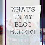 What's In My Blog Bucket