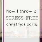 How I Throw a Stress-Free Christmas Party + DIY Wrapping Paper Table Runner