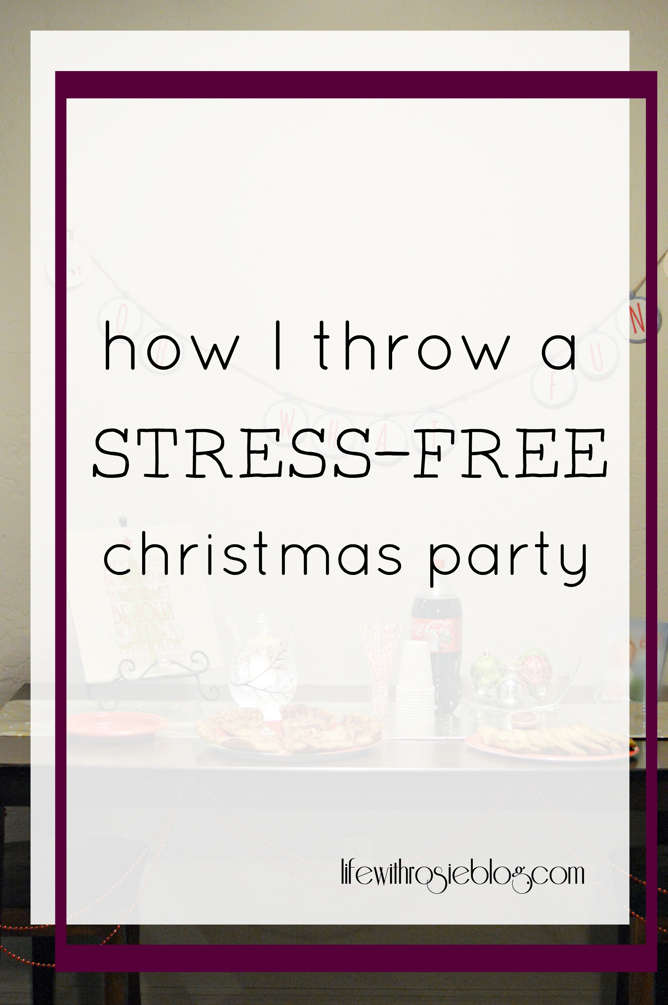 How I throw a Stress-Free Christmas Party + DIY Wrapping Paper Table Runner. #ad #FamilyPizzaCombo // Life with Rosie