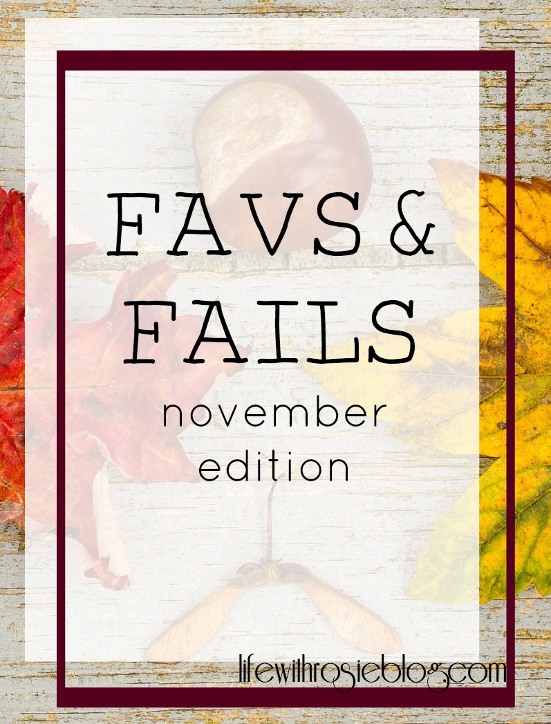 Favs & Fails November Edition // Life with Rosie