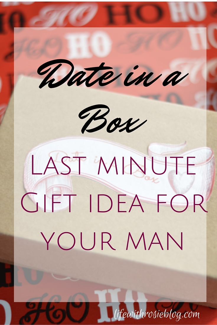 Date in a Box - a last minute gift idea for your man. Stumped on what to get your man for the holidays? Put together a date in a box! A full list of date ideas and instructions included #ad #giftingamemory // Life with Rosie