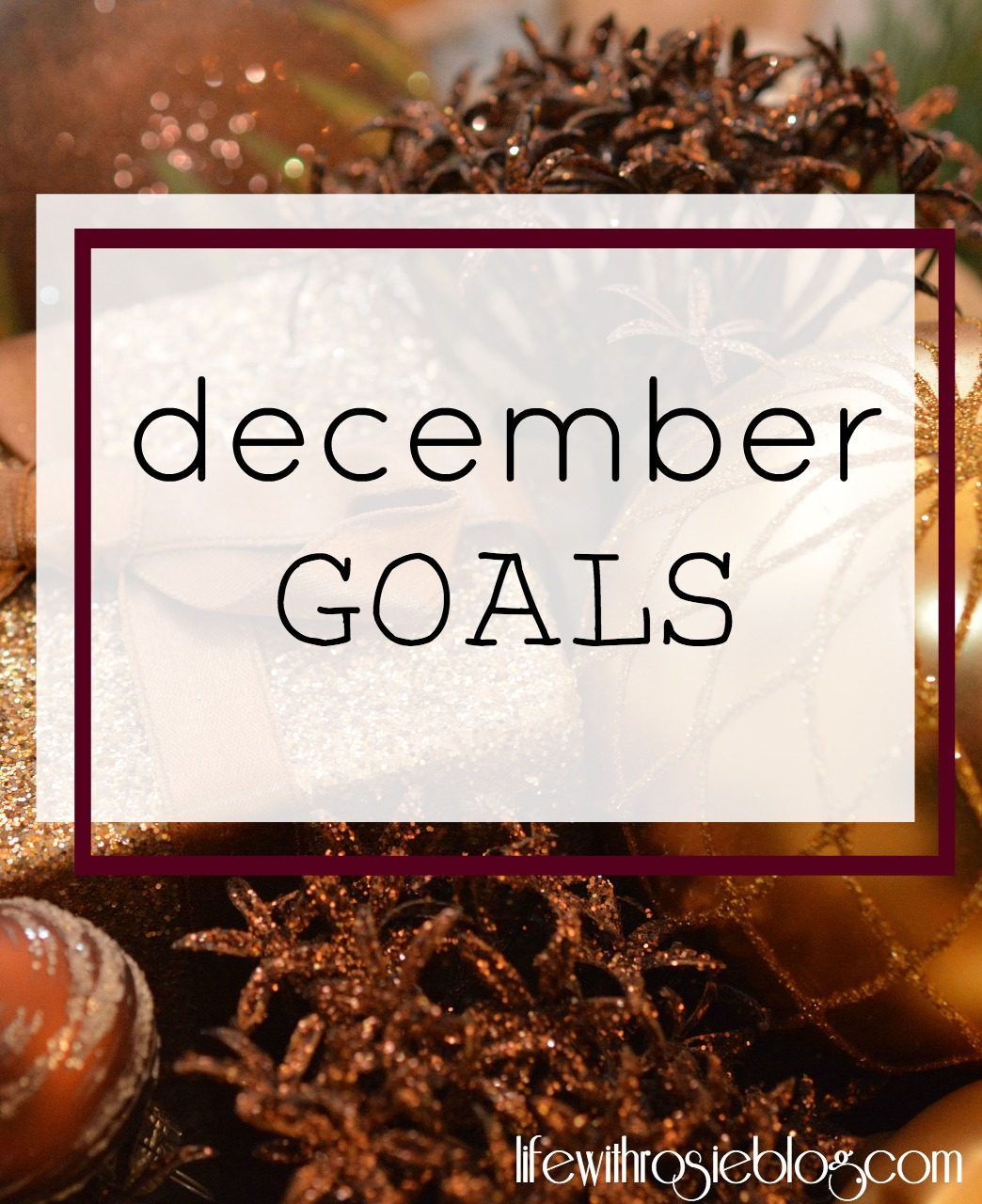 December Goals // Life with Rosie