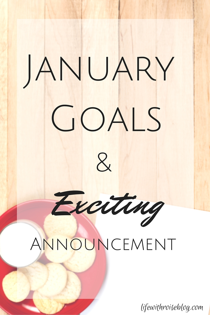 January Goals & an Exciting Announcement regarding the future of LWR // Life with Rosie