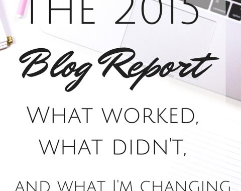 The 2015 Blog Report: a review of my yearly stats, the strategies that I used that worked, the ones that didn't work, and what I'm changing up for the new year // Life with Rosie