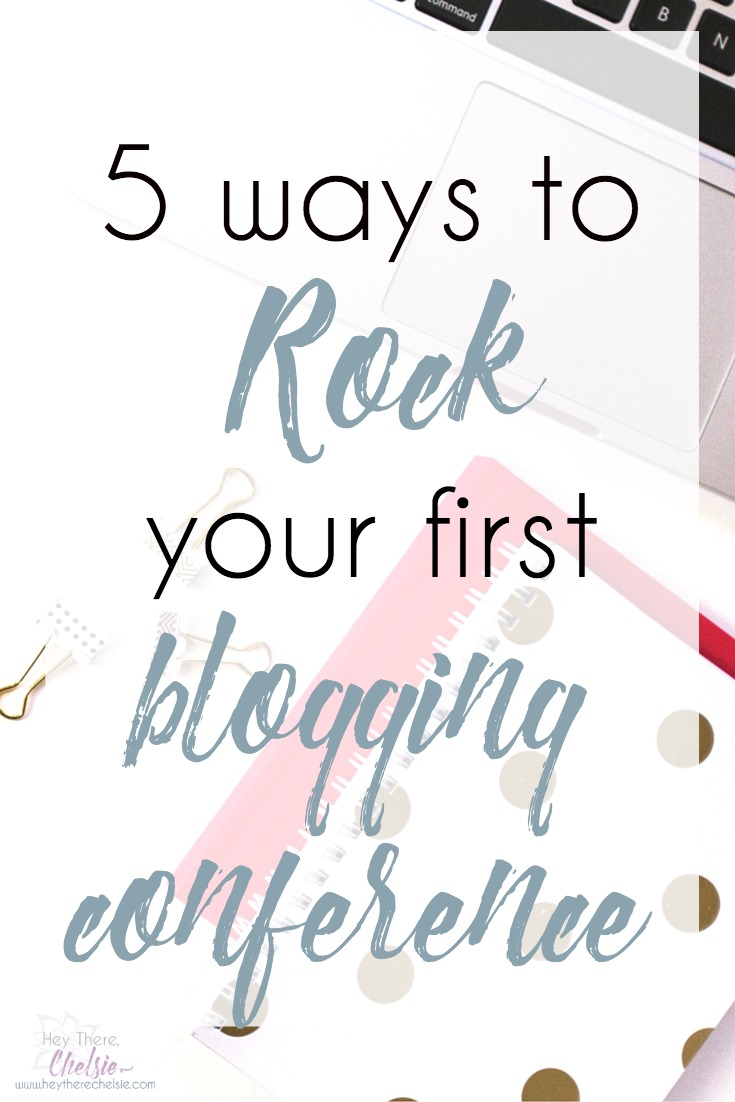 Getting ready to go to your first blogging conference? Don't make the same rookie mistakes that I did! Here are 5 ways you can rock your first blogging conference, including one tip to make an impression long after it ends // Hey There, Chelsie