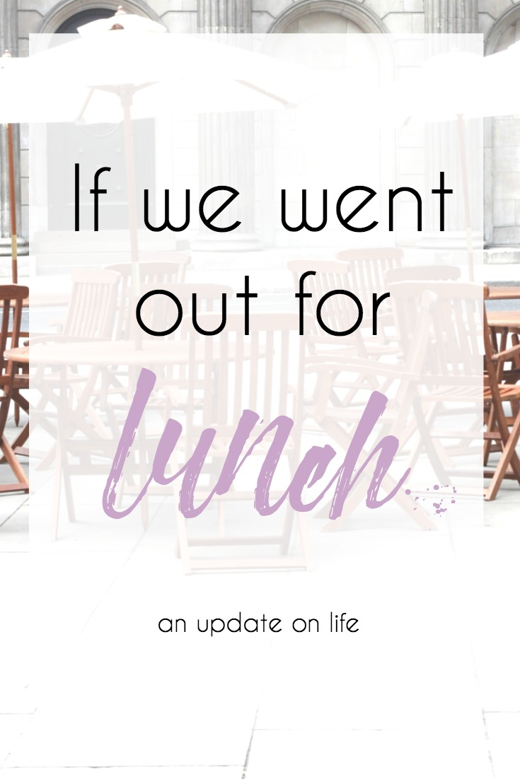 If we went out for lunch; this is what I would talk to you about. // Hey There, Chelsie