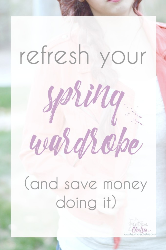 Refresh your spring wardrobe (and save money while doing it). Add white pieces with texture and layer your tanks to make your neutrals more interesting. Save money doing it while shopping at ThredUp [ad] // www.heytherechelsie.com