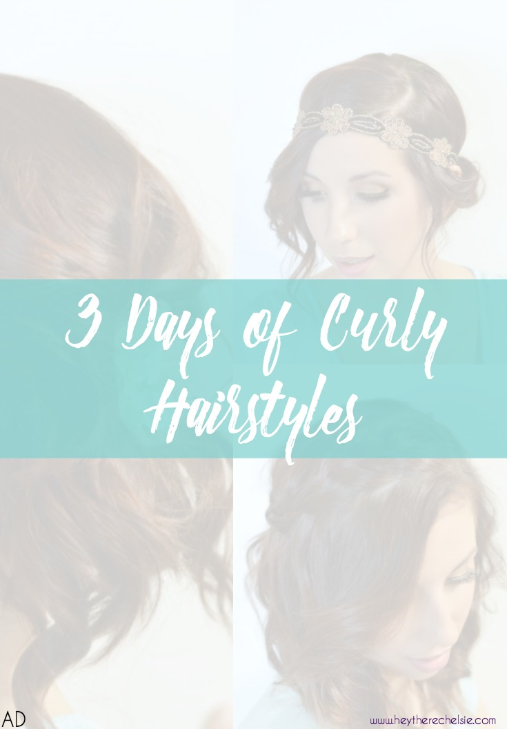Curly Hair, don't care? Check out this post that shows three different ways you can wear your freshly curled hair (or day old curls!) Each style is easy to acheive, even for novices! #ad #rethinkyourcolour // Hey There, Chelsie