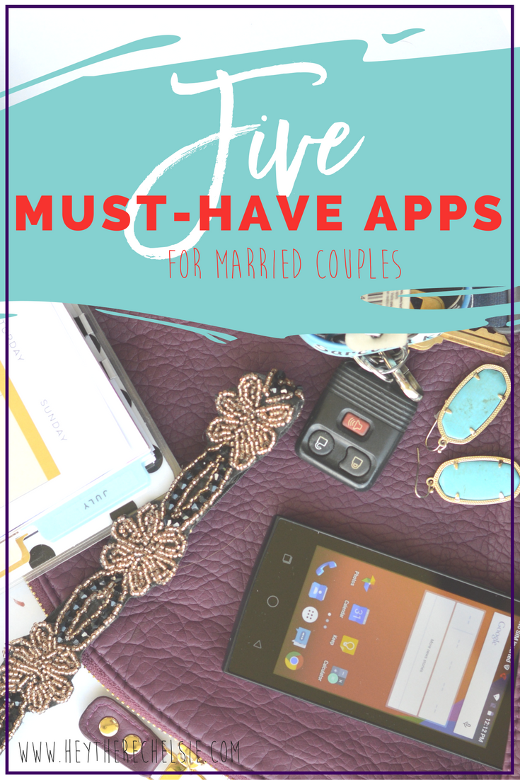 Making sure you are on the same page as your spouse can be tricky, but these must-have 5 apps for married couples help make communication easier! Everyone who is married needs to have these apps! // Hey There, Chelsie