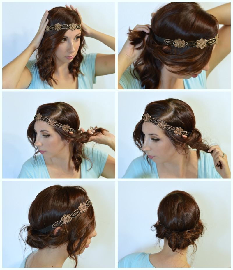 Easy and Simple 20's inspired Flapper Hairstyle using day 2 curls and a headband! Check out this tutorial to learn how you can do your hair this way! #ad #rethinkyourcolour // Hey There, Chelsie