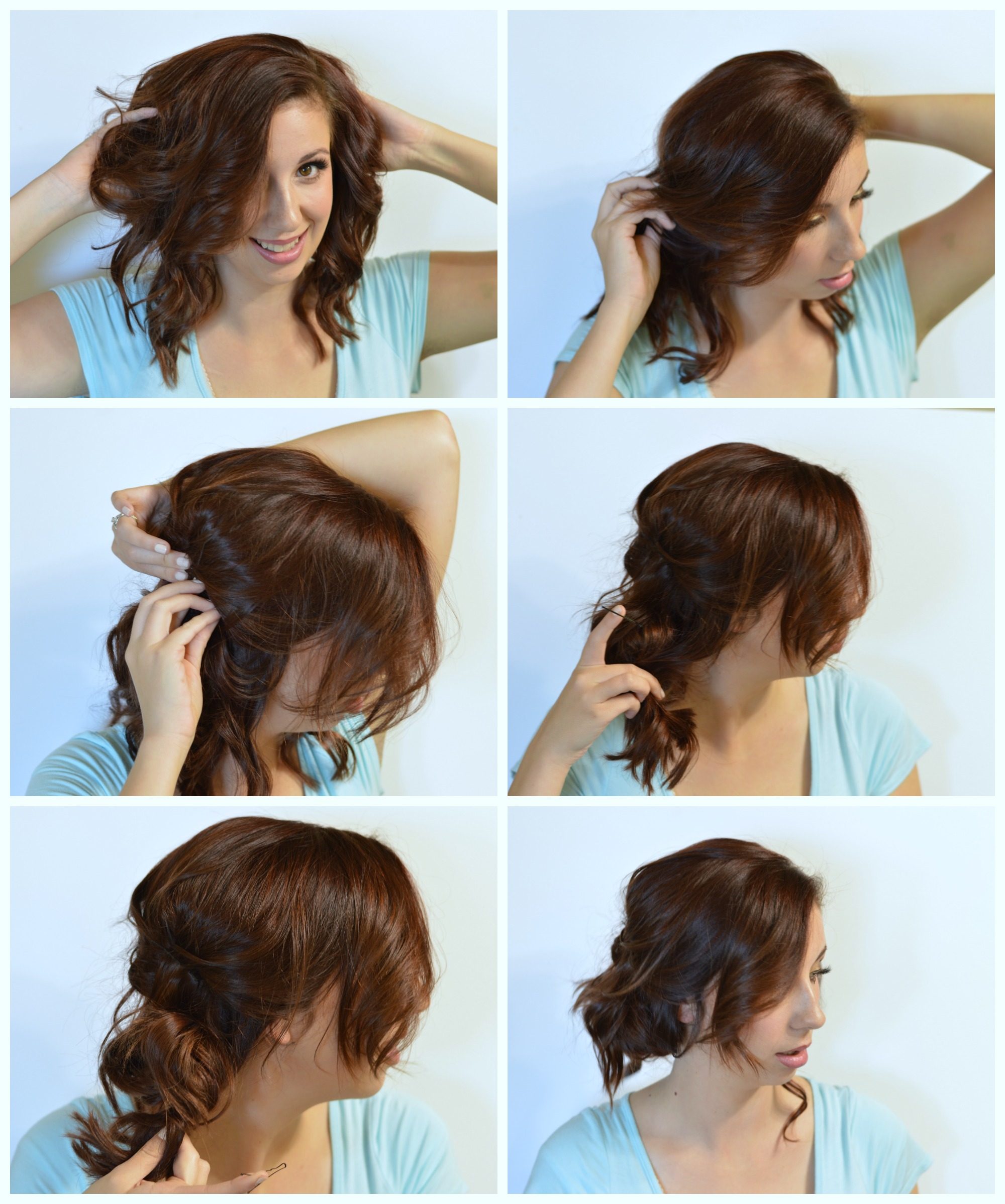 Easy curly updo for day 3 curls! Click here to check out how to get this updo with 4 bobby pins! #ad #rethinkyourcolour // Hey There, Chelsie
