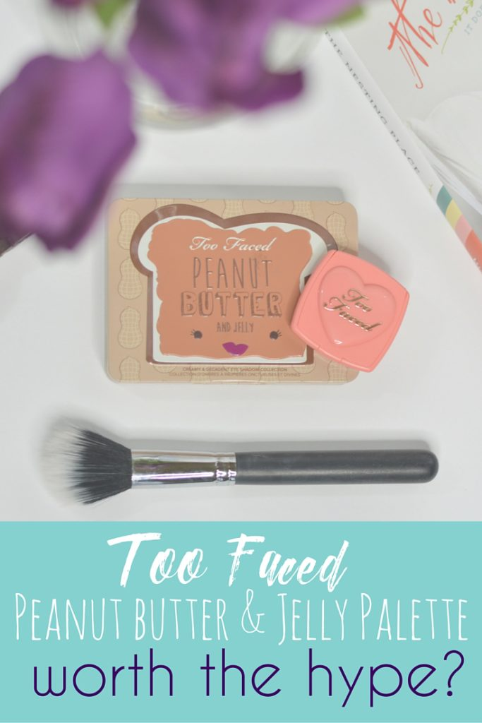 Too Faced Peanut Butter & Jelly Palette: Is it Worth The Hype? A full review of the new Too Faced Peanut Butter and Jelly Palette with swatches and 3 looks using it! // Hey There, Chelsie