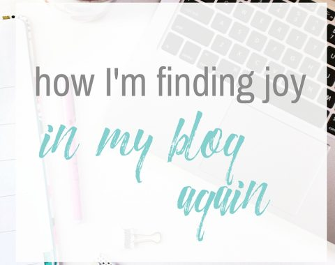 How I'm finding joy in my blog again // www.heytherechelsie.com