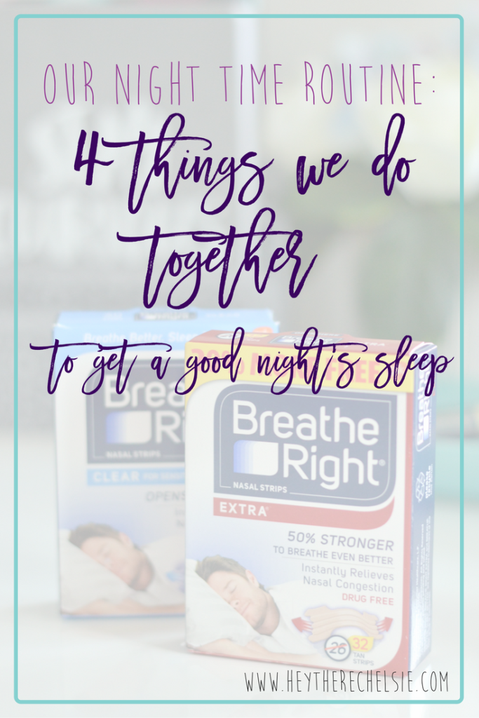 4 Things we do Together to get a Good Night's Sleep // Hey There, Chelsie