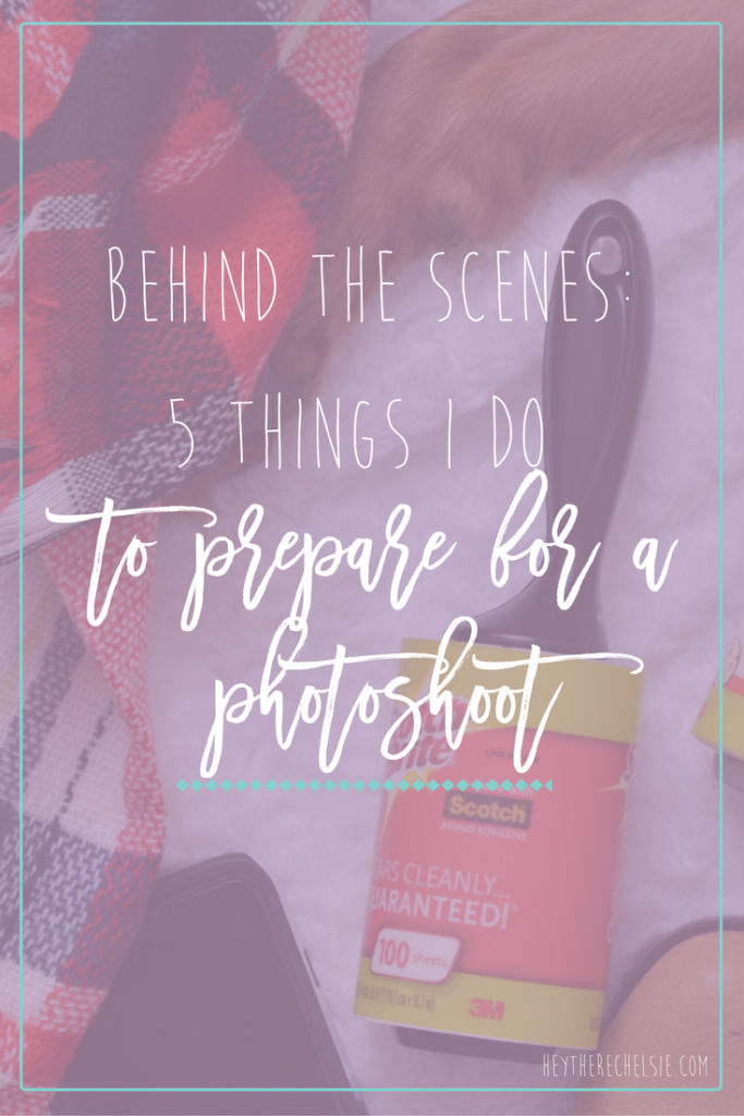 Behind the Scenes: 5 Things I Do to Prepare for a Fashion Photoshoot, including getting rid of all the dog hair on my clothes using my Scotch-Brite Lint Roller™! // Hey There, Chelsie #ad #stickittolint