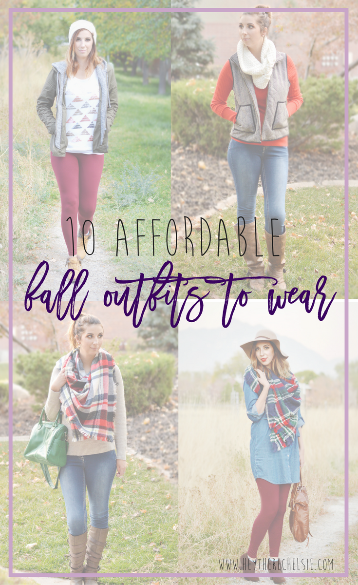 10 Affordable Fall Outfits to Wear // Sharing my secret to building my Fall 2016 wardrobe on a budget while staying on top of trends. Get the details on these outfits and more fall outfit ideas here