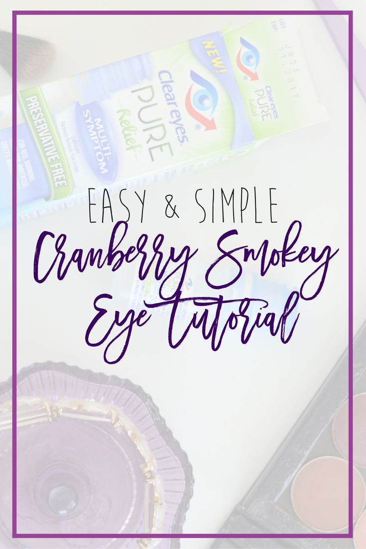 Easy and Simple Cranberry Smokey Eye, a perfect makeup look for the holidays without being too complicated! // Hey There, Chelsie #ad #MyPureRelief