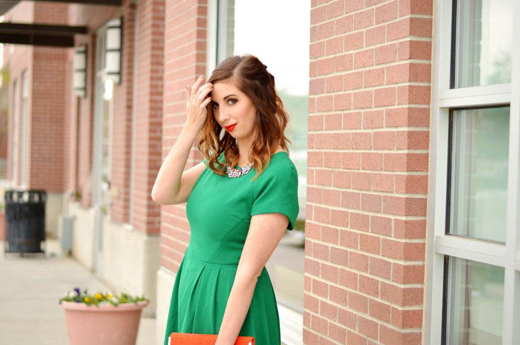 Fancy holiday outfit idea and inspiration for Christmas and New Year's Eve! This dress was under 20 dollars from thredUP and looks brand new! // Hey There, Chelsie