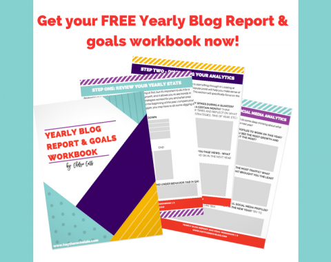 Have a plan to grow your blog with this free yearly blog report & workbook! // Hey There, Chelsie