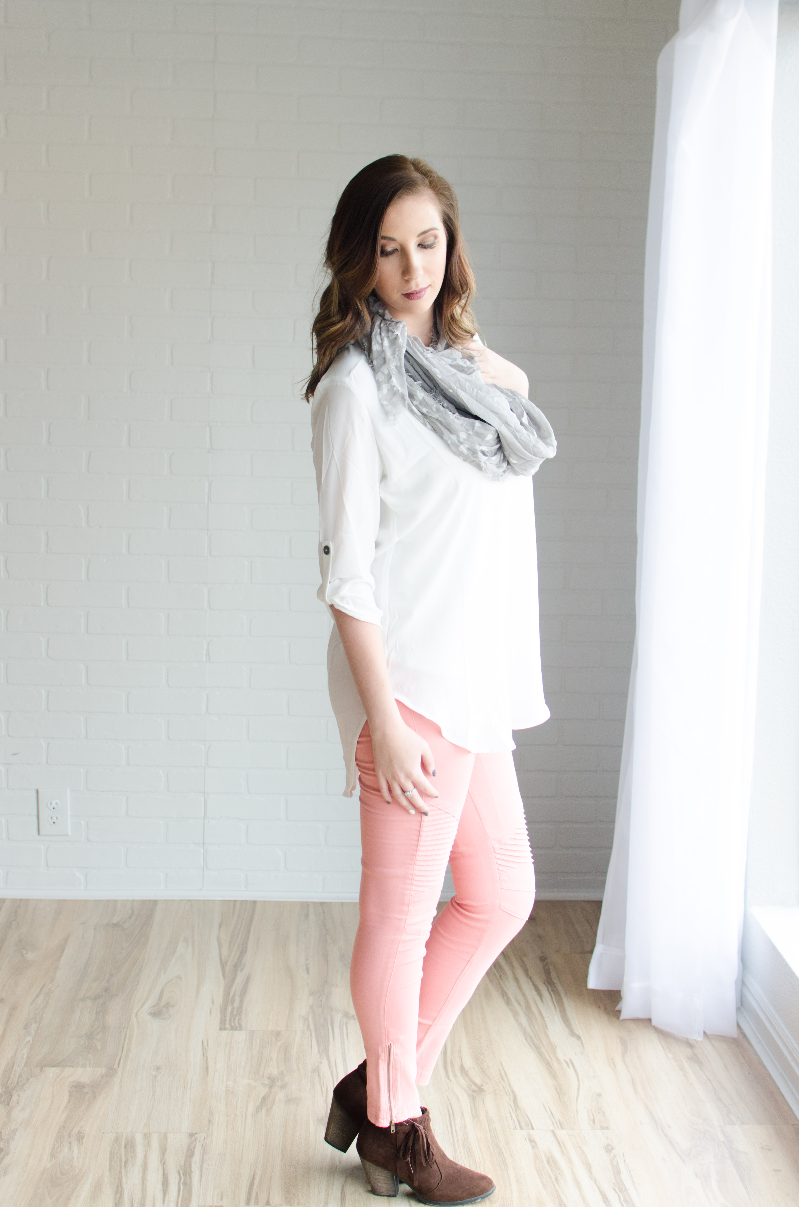 In-Between Valentine's Day Look - the perfect balance of Edgy and Girly! // Hey There, Chelsie