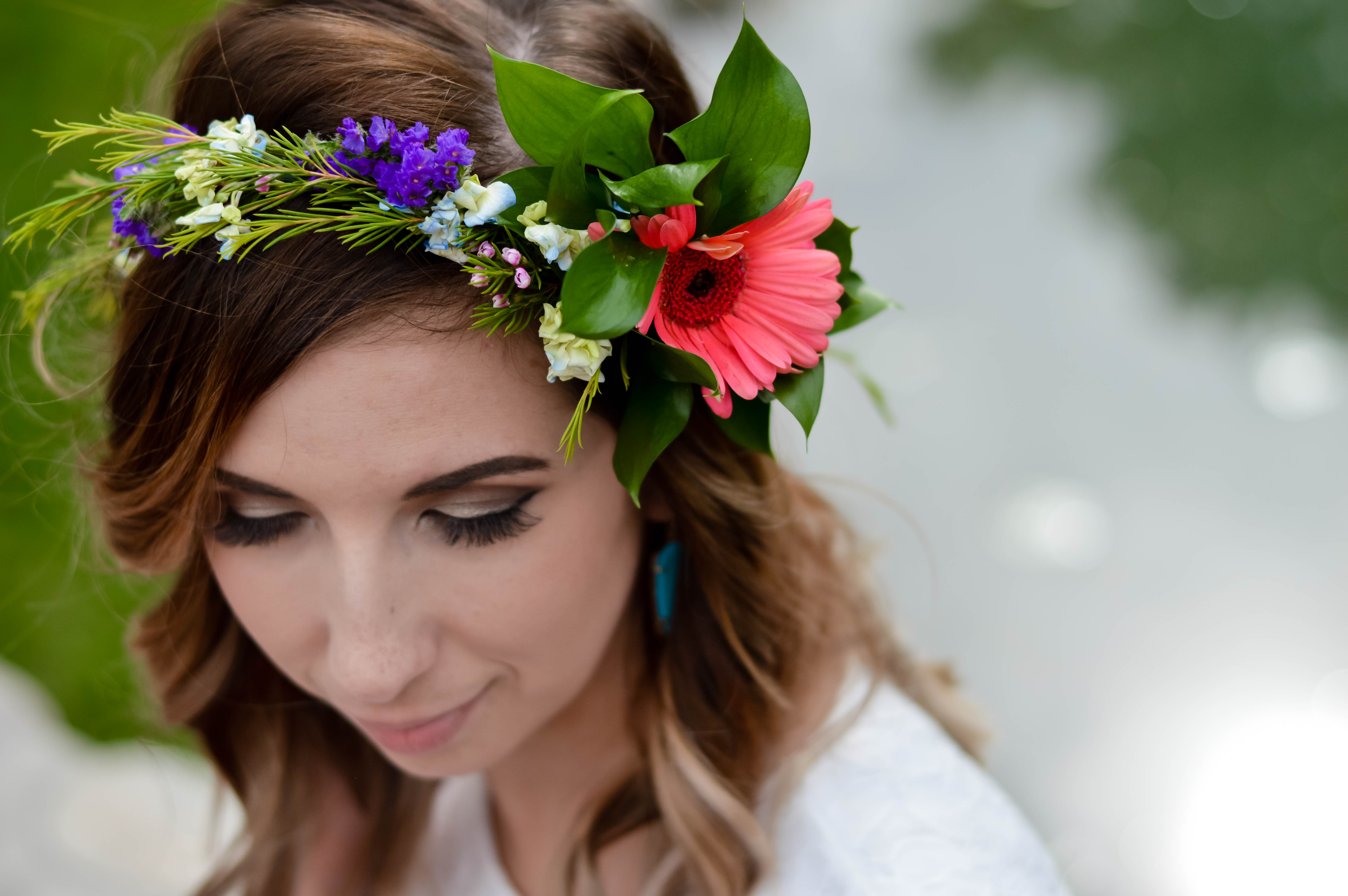 Three easy ways to style a white summer dress edgy girly in this handmade floral crown is made with real flowers and leaves floral tape and izmirmasajfo
