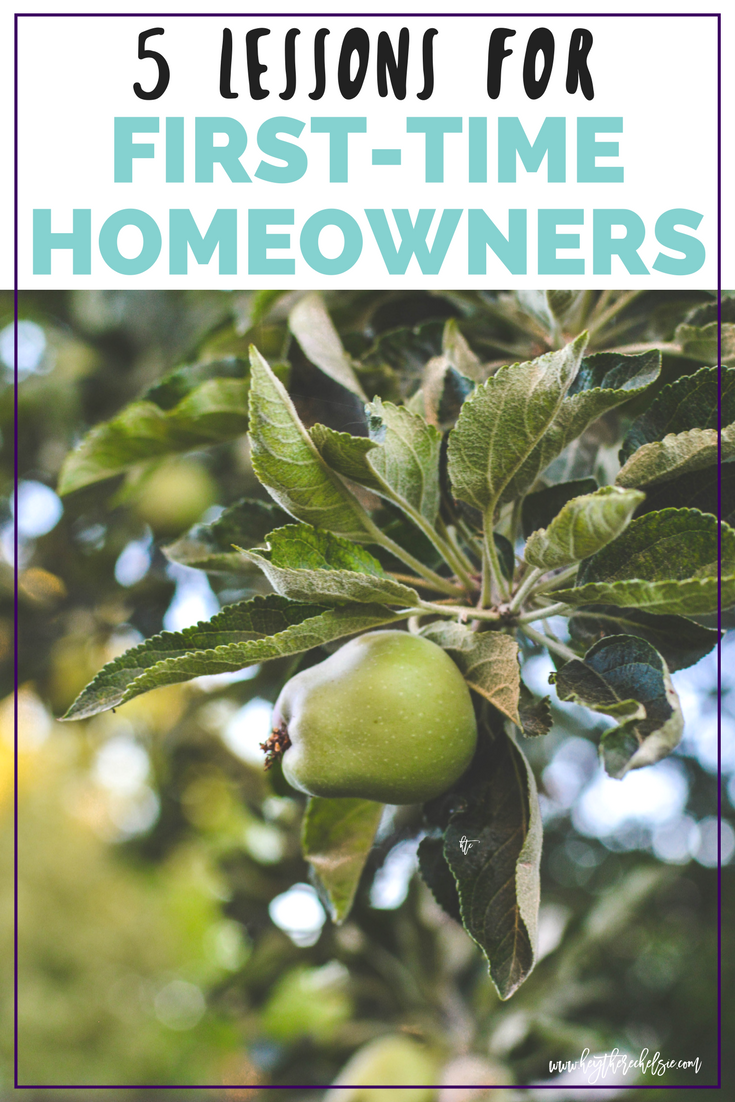 5 Lessons for First-Time Homeowners: The Carr Home V.1. Sharing the things that we've learned in the first three months of being first-time homeowners, including how to take care of our yard, how to pick paint colors, and how to furnish a new home // Hey There, Chelsie