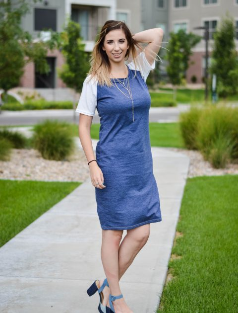 Simple Addiction baseball t-shirt dress exclusive | Summer Style, Summer Dress, Summer Dress Idea // Hey There, Chelsie