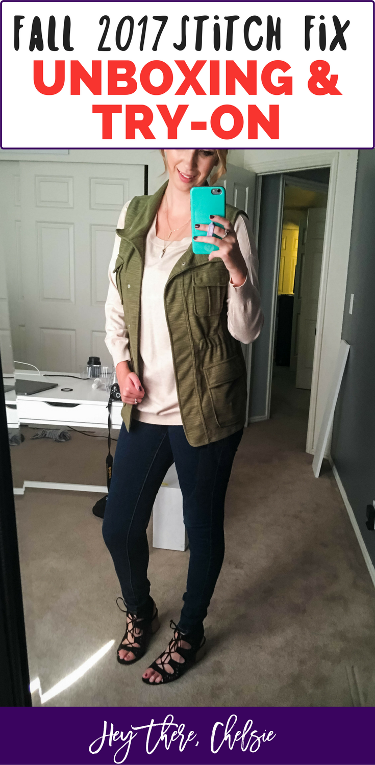 Fall 2017 September Stitch Fix Unboxing, Try-On & Review! Perfect fall pieces for fall outfits // Hey There, Chelsie