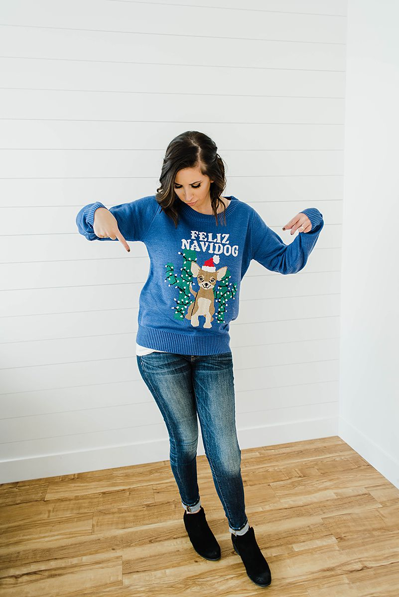 Ugly Christmas Sweater Outfit by Tipsy Elves - Christmas Outfit Idea // Hey There, Chelsie