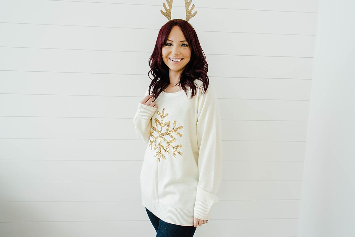 How to Style Ugly Christmas Sweaters, Party Ideas - Hey There, Chelsie