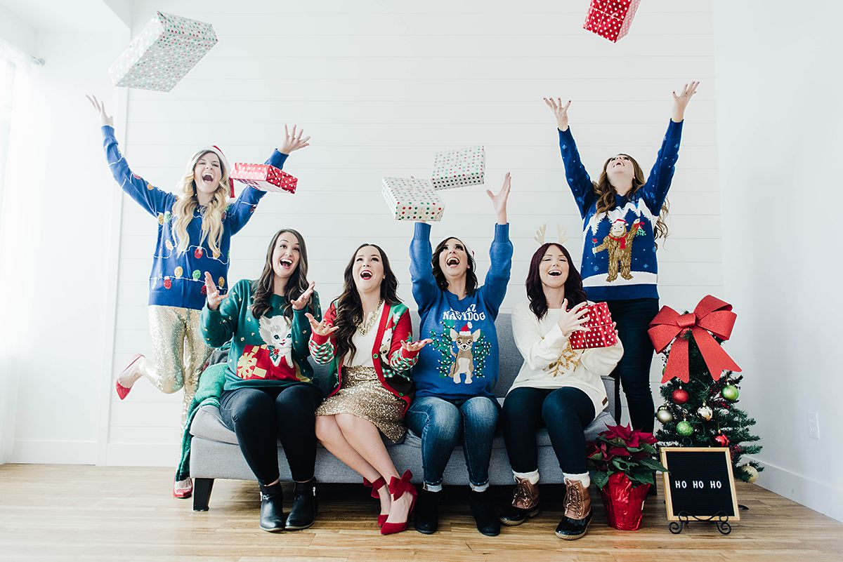Ugly Christmas Sweater Party Ideas // Hey There, Chelsie