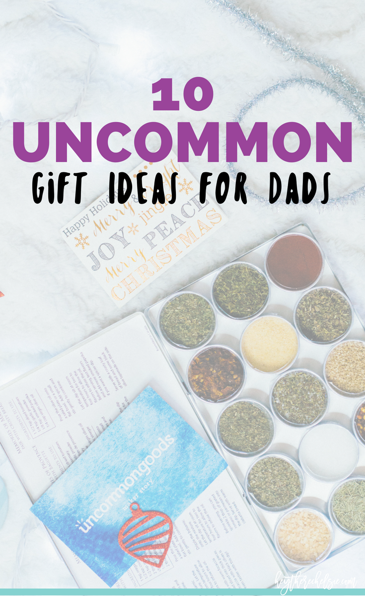 10 Uncommon (and unique) gift ideas for Dads! If you have a father who is hard to shop for, here is 10 completely unique gift ideas for him! // Hey There, Chelsie