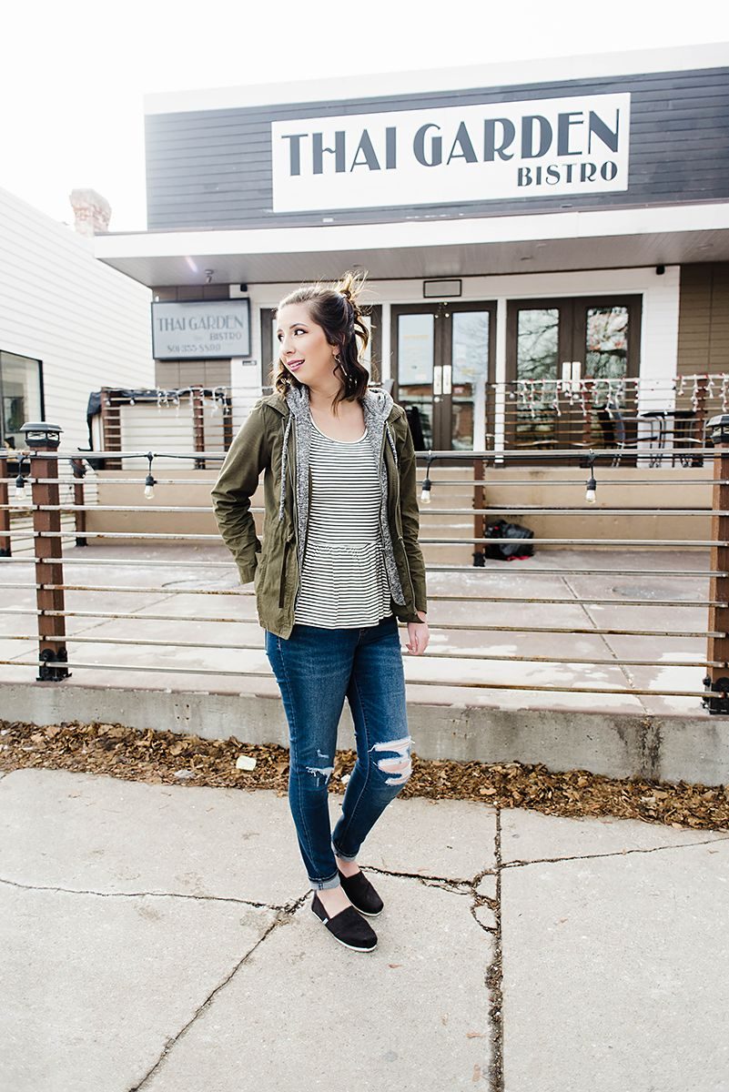 How to style a Striped Peplum // Hey There, Chelsie