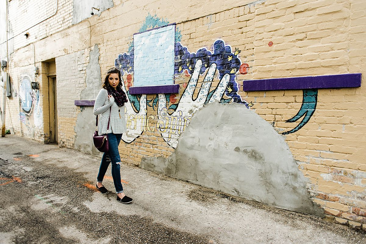 Three ways to style a Striped Peplum // Hey There, Chelsie