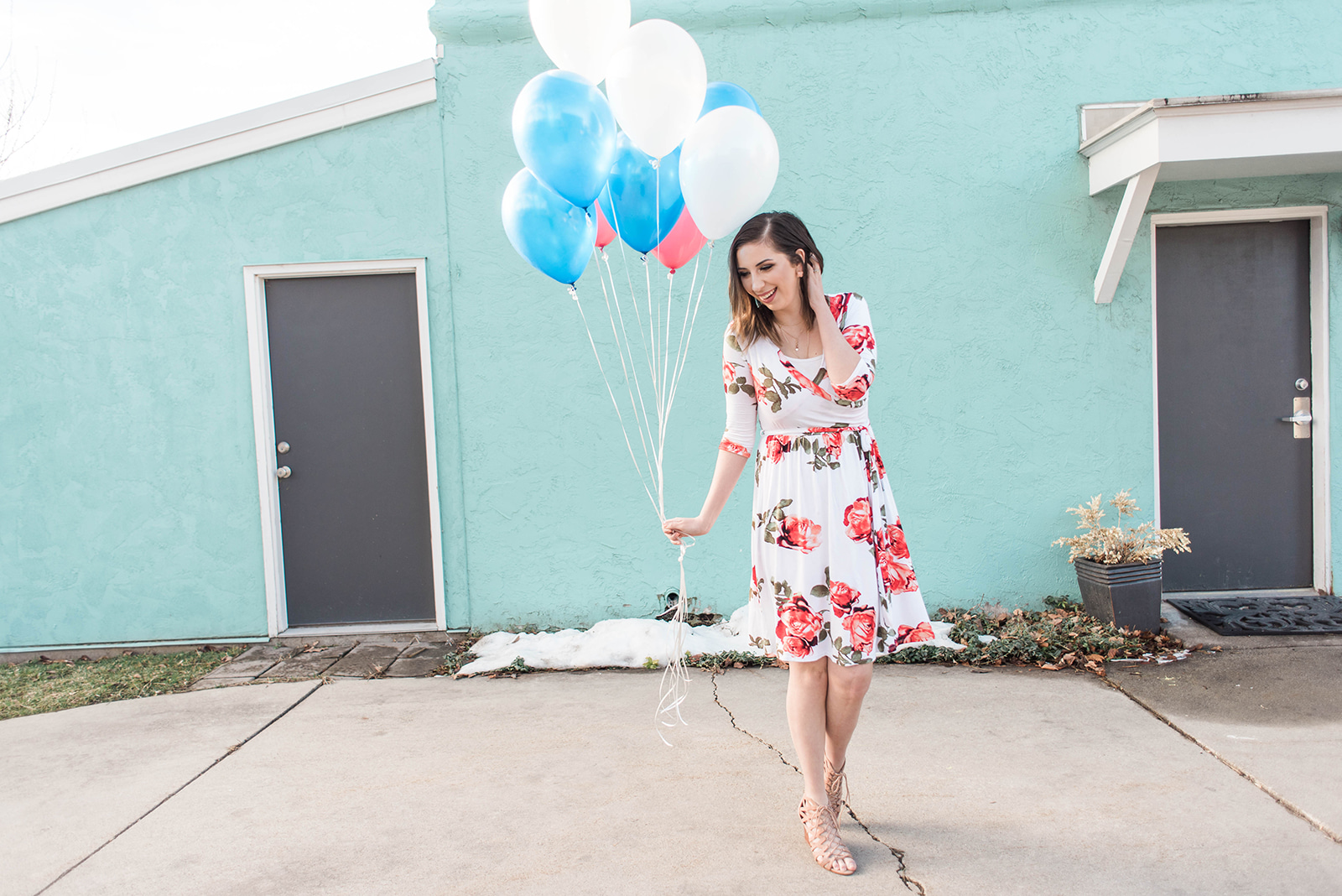 Floral Spring Dress - cute spring dress idea // Hey There, Chelsie