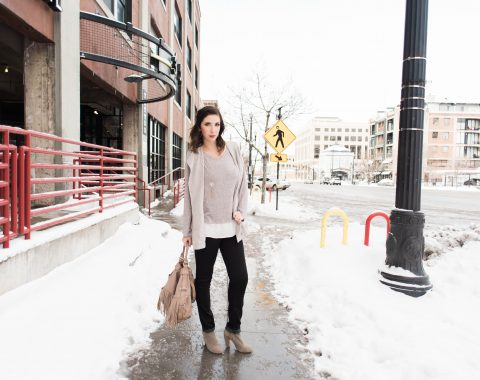 Winter to Spring Transitional Outfit Idea // Hey There, Chelsie