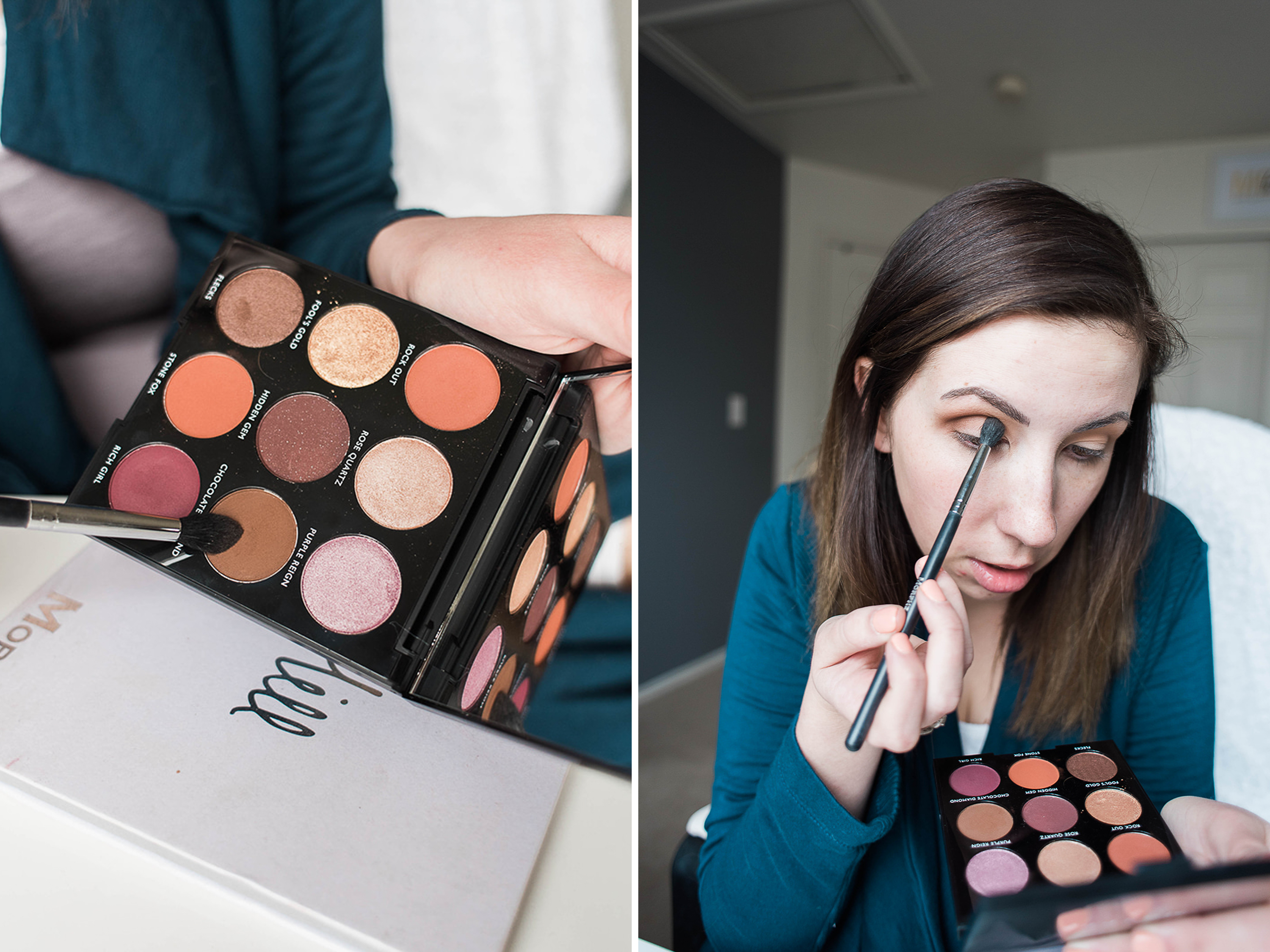 St Patrick's Day Makeup Tutorial - sharing a St. Patrick's Day easy eyeshadow tutorial featuring the Morphe Jewel Tone Palette from Ulta // Hey There, Chelsie