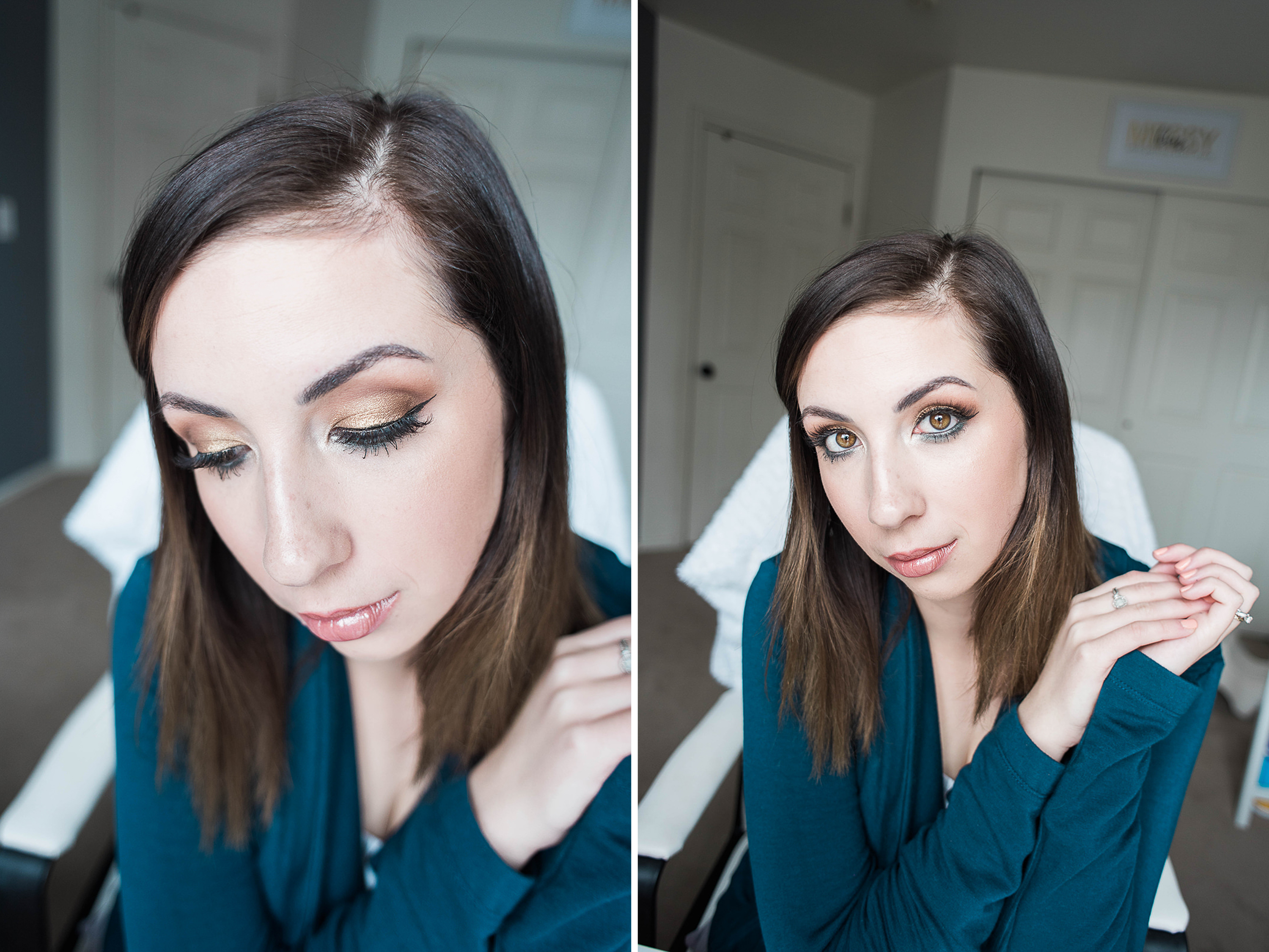 St Patrick's Day simple eyeshadow makeup tutorial // Hey There, Chelsie