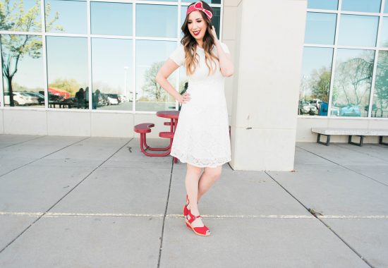 How to Style Red Shoes for Summer // Hey There, Chelsie