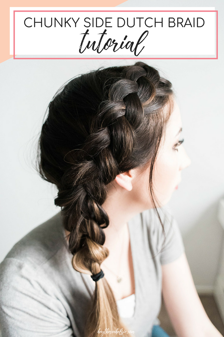 Easy Chunky Dutch Braid tutorial will help you acheive a beautiful dutch braid hairstyle in a matter of minutes! // Hey There, Chelsie - a Utah Beauty and Lifestyle Blog