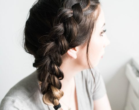 Chunky Side Dutch Braid tutorial - how to braid your hair with hair extensions | Hey There, Chelsie - a Utah Beauty and Lifestyle Blog